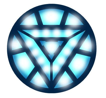 iron man mark vi custom arc reactor symbol