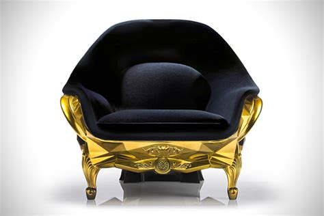 skull armchair gold skull armchair by harow hiconsumption