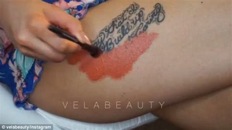 tattoo cover up drugstore make up artist vela beauty conceals her tattoo using