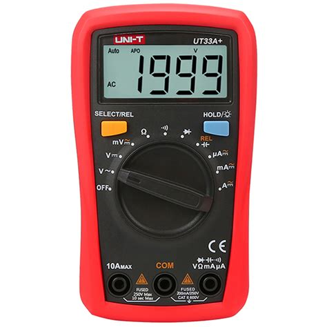 Pocket Digital Multitester Uni T Ut 120a With Carrying uni t ut33a digital pocket multimeter resistor capacitor diode tester backlight auto shutdown