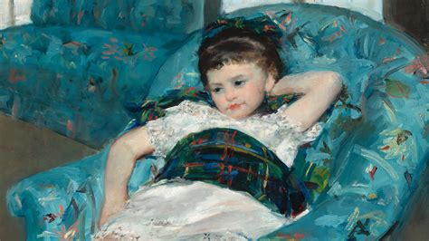 little girl in a blue armchair impressionists with benefits the painting partnership of
