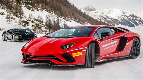 Lamborghini Fotos by Ice Driving The Lamborghini Aventador S Video Cnet