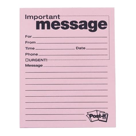 message template for word 8 best images of printable for office phone