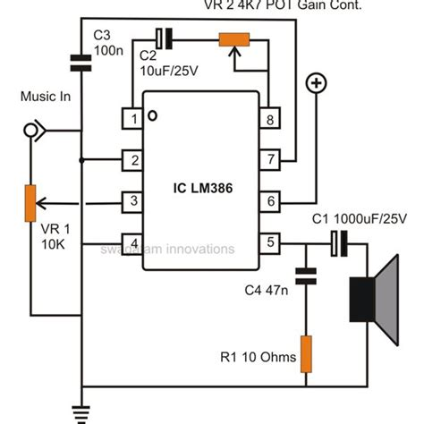 how to make capacitor in ic how to build small simple audio lifiers using ic lm386