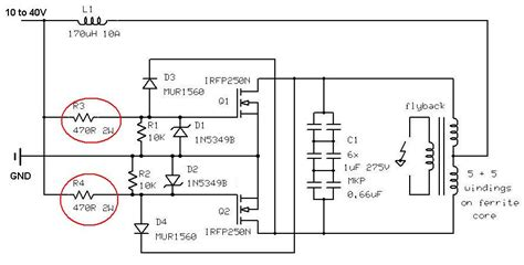 dual transistor flyback driver dual transistor flyback driver 28 images simple powerful flyback driver lm393ad pdf下载