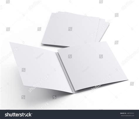 3d brochure template blank template square leaflet or brochure or flier set