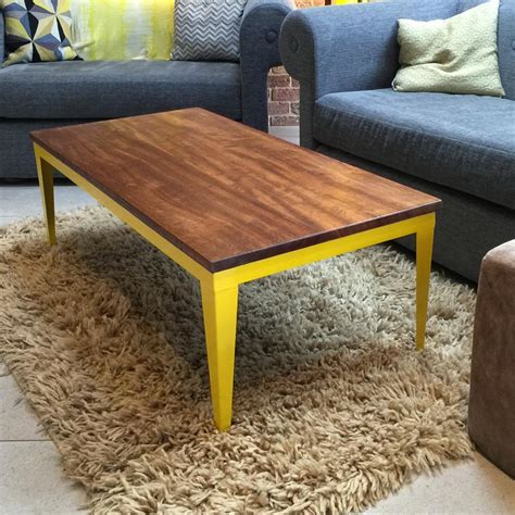 mustard coffee table the foundry iroko coffee table mustard vintage