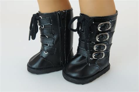 black doll boots black buckle 18 quot doll boots