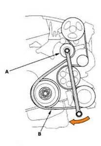diagram to replace a serpentine belt on 2004 honda cr