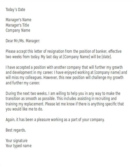 Resignation Letter Of Manager by 41 Resignation Letter Templates In Doc Free Premium Templates