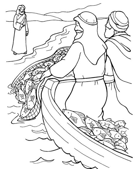 coloring pages jesus appears to the disciples fishing for coloring page