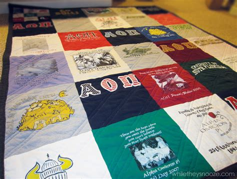 How To Make T Shirt Quilts by While They Snooze Fall T Shirt Quilt Tutorial