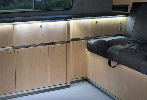 volkswagen syncro interior dubteriors maple wenge and stainless steel vw t25 syncro