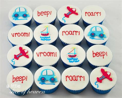 transportation themed cupcakes celebrations graphisme cupcake et