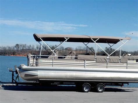 pontoon double bimini top boat tops custom interiors canvas inc