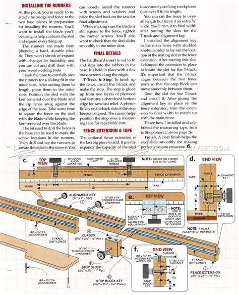 sle blueprints ultimate crosscut sled plans woodarchivist