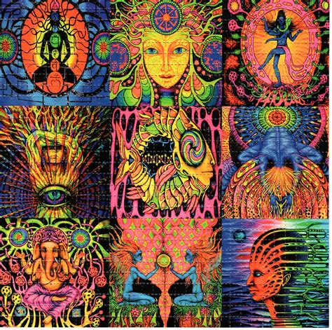 My Fed Me Lsd At Four by Zen Day Glo Blotter Perforated Psychedelic Ebay