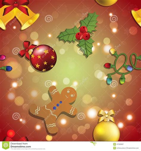 christmas tree new year pattern new year pattern with ball christmas wallpaper vector