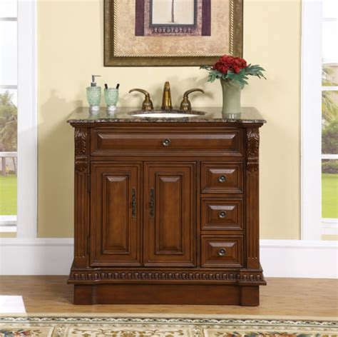 Bathroom Vanities Granite 38 Inch Single Sink Bathroom Vanity With Granite Counter