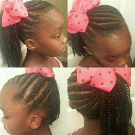 crochet hairstyles for black catalog kid s cornrows with crochet ponytail snap bulk quot