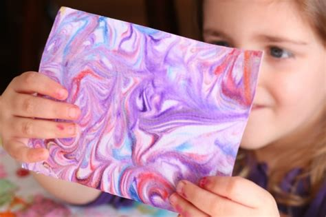 Make Marbled Paper - 25 awesome projects for toddlers and preschoolers