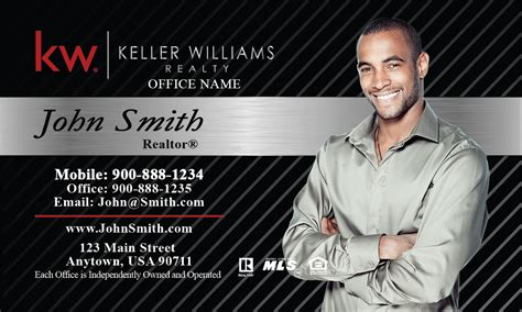 Keller Williams Realty Business Card Templates by Keller Williams Business Card Black And Gray Design 103152