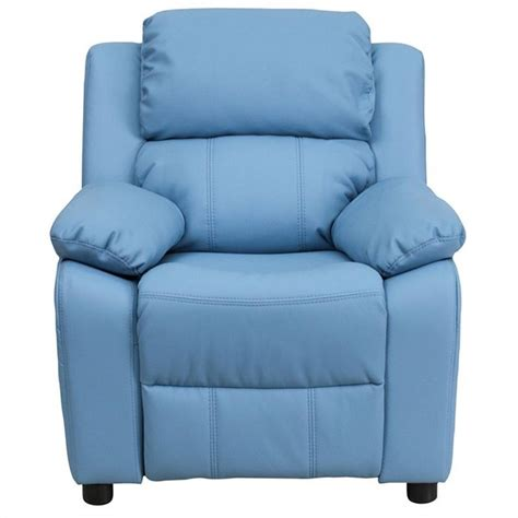 flash furniture recliner in light blue