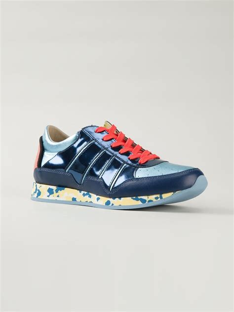 dolce and gabbana mens sneakers dolce gabbana mix match sneakers in blue for lyst