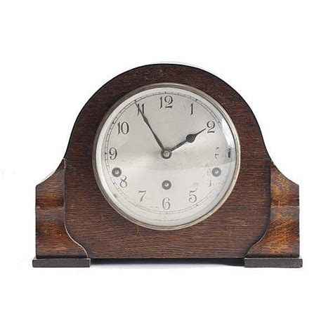 clock made of clocks garrard edwardian oak case mantel clock made in england