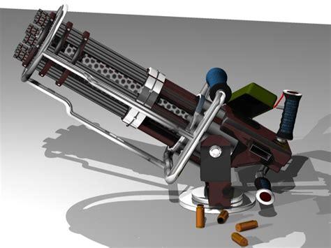 Kaos 3d Gafting Gun gatling gun 3d c4d