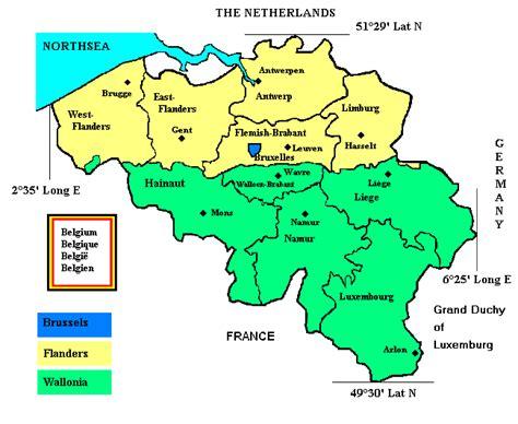 belgium regions map inventory of the sundials in belgium