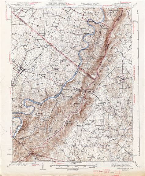 virginia topographic map west virginia historical topographic maps perry