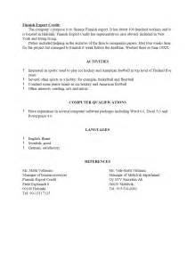 Resume With References Template by Free Sle Resume Template Cover Letter And Resume Writing Tips
