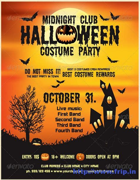 template flyer halloween 7 best images of printable halloween flyer templates