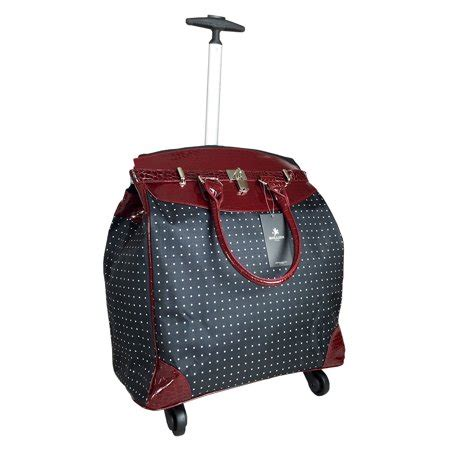 trendyflyer computer laptop rolling bag 4 wheel case polka
