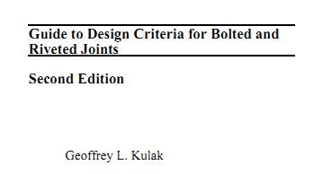 Design Criteria For Bolted And Riveted Joints | download guide to design criteria for bolted and riveted