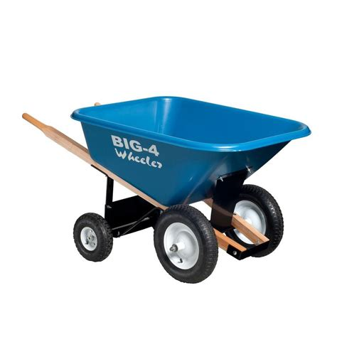 8 cu ft heavy duty wheelbarrow b4w 8 the home depot