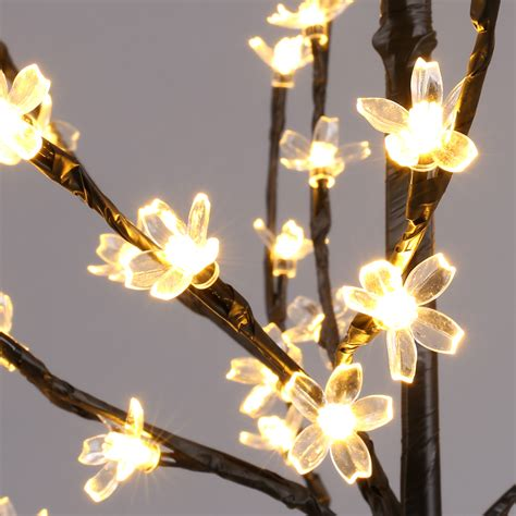 180 led lighted christmas cherry blossom tree light branch