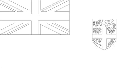 Fiji Flag Coloring Page world flags coloring pages 3