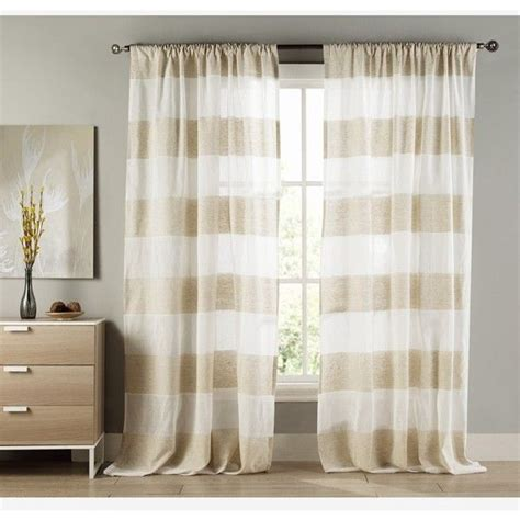 Duck River Window Curtains Duck River Textile Lydelle Cabana Stripe Window Panels Found On Polyvore Featuring Polyvore