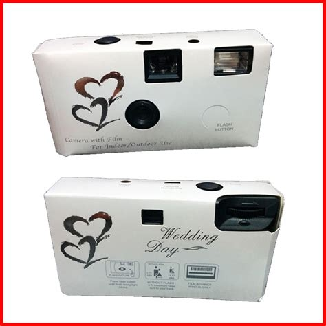 Wedding Box Disposable Cameras by Classic White Wedding Disposable Cameras With Gift