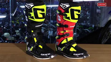 gaerne sg12 motocross boots gaerne sg12 limited edition motorcycle boots review youtube