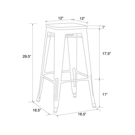 Set Of 3 Backless Bar Stools by Dhp Fusion 30 Quot Metal Backless Bar Stool With Wood Seat