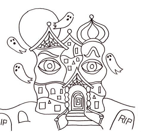 Tiny House Victorian by Halloween Art Lesson Draw A Haunted House Creativity