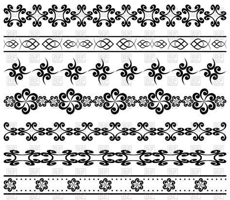 geometric pattern borders geometric borders vector clipart image 64831 rfclipart