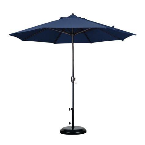 California Umbrella 9 Ft Aluminum Auto Tilt Patio Garden 9 Ft Aluminum Patio Umbrella With Auto Crank