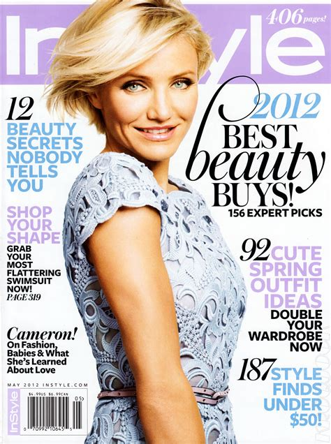 On Cover Of In Style by Cameron Diaz In Instyle Magazine May 2012 Issue Hawtcelebs