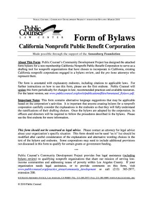 Free Nonprofit Bylaws Template free non profit bylaws template forms fillable