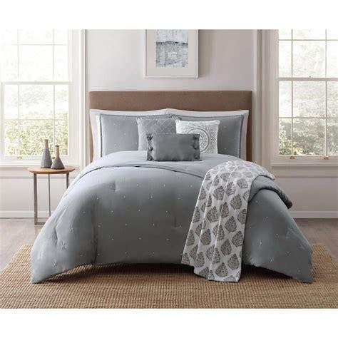 jennifer adams bedding jennifer adams darby 7 piece gray king comforter set
