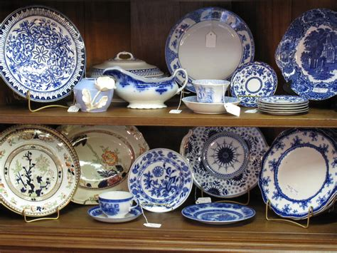 selection of antique ceramics and porcelain